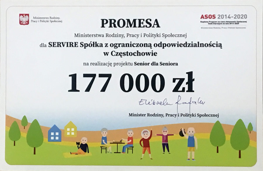 SERVIRE Sp. z o.o. z promesą w ramach Programu ASOS